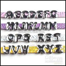 2017 alphabet slider letter beads a z cute smooth letters beads