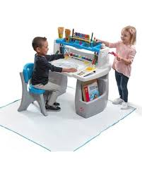 step 2 deluxe art desk sweet deal on step2 deluxe art desk with splat mat multicolor