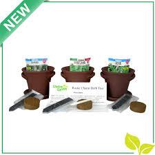 Fiber Soil by Window Garden Rustic Charm Herb Trio Kit With Planter Pots Slate