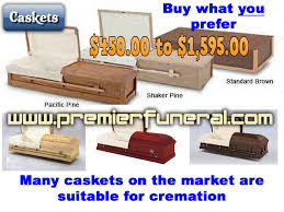 how much is a casket cremation options