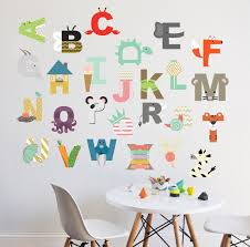 Alphabet Wall Decals For Nursery Alphabet Wall Decal Interactive Alphabet Wall Sticker