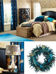 Peacock Feather Comforter Set Elegant Style Bedroom Decor With Peacock Feather Teal Queen