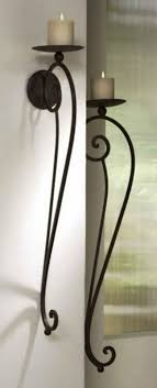 Iron Floor L Large Tuscan S 2 Scrolled Wrought Iron Wall Candle Holder Sconce