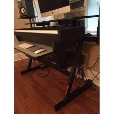 quiklok studio desk quik lok z ws71l keyboard workstation desk aptdeco