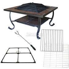 cover for patio heater foxhunter garden steel fire pit firepit brazier square patio