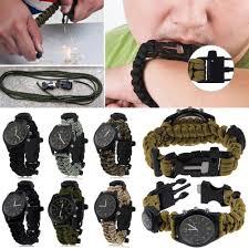 survival paracord bracelet kit images Survival paracord bracelet compass fire starter prepper camping jpg