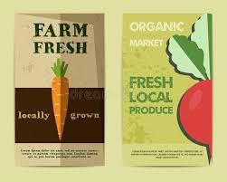 nutrition brochure template set of stylish farm fresh flyer template or stock vector