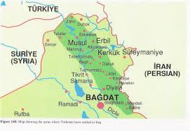 map of irak maps europe turkmen friendships