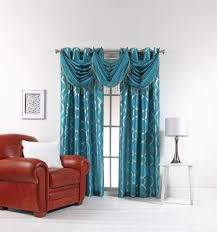 Turquoise Sheer Curtains Teal Curtains Ebay