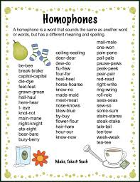 same words different meanings homophones archives make take teach