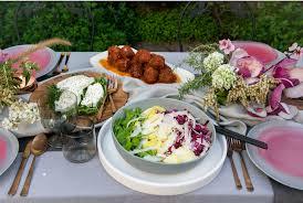 dinner for delfina restaurant group u0027s new catering menu in blanc u0027s