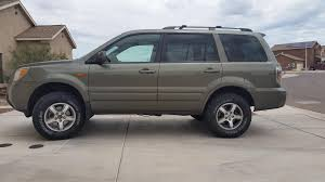 2007 honda pilot tire size finished 2007 lift bigger tires honda pilot honda