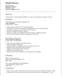 Example Career Objectives For Resume by Career Objective Examples Human Resources