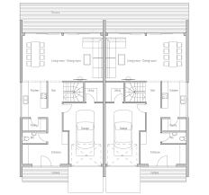 duplex house plan ch159d in modern architecture house plan