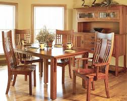 mission style dining room table home design