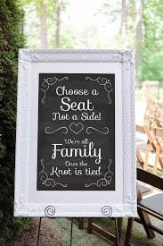 wedding seating signs a seat not a side wedding seating sign wedding ceremony