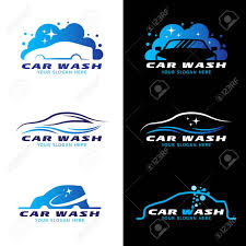 car service logo car wash service logo vector set design royalty free cliparts