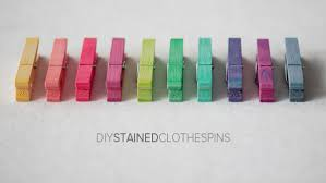 diy stained clothespins i u0027m going to try this on a bunch of empty