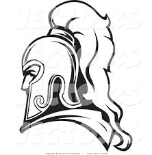 vector of a roman soldier line drawing avatar by vector tradition