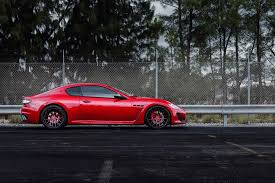 maserati granturismo red maserati granturismo mc stradale red wheels trees maserati