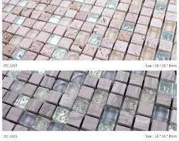 Hf Jtc Simple Glass Stone Mosaic Wall Tile Clear Glass Mix - Glass stone backsplash