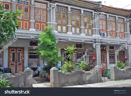 colonial houses georgetown penang malaysia stock photo 87647341