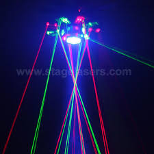 wonderful effects 1600mw 8 claws led laser ufo lighting for dj