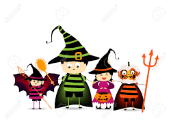 halloween kids clip art happy halloween party with children trick or treating royalty free