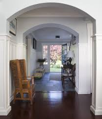 tall wainscoting with baseboard entry traditional and white shade