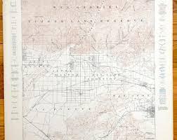 map of pomona california san gabriel map etsy