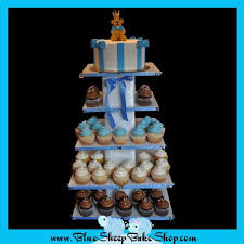 teddy bear prince baby shower cupcake tower blue sheep bake shop