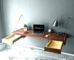 Floating Desk Diy Diy Floating Desk Timber Floating Wall Desk Diy Floating Desk With