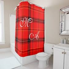 Monogram Shower Curtains Best Plaid Shower Curtain Products On Wanelo