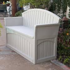 garden storage bench seat home outdoor decoration