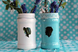 Flower Vase Painting Ideas Transform Old Jam Jars Into Stunning Silhouette Vases