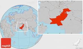 world map pakistan karachi gray location map of pakistan