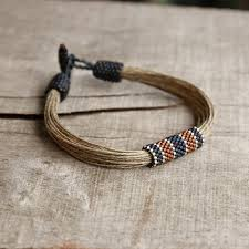 bracelet for nautical men s bracelet beadwork bracelet linen bracelet for