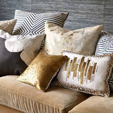 Pillow Covers For Sofa by Bedroom Metallic Cowhide Pillows With Cozy Sofa For Living Room