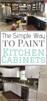 easiest way to paint kitchen cabinets the simple way to paint kitchen cabinets the simply