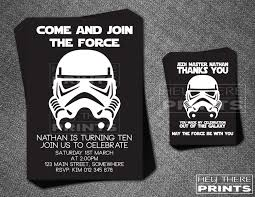 storm trooper birthday invitations and thank you cards star