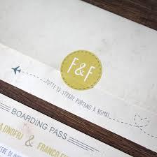Boarding Pass Wedding Invitation Card Italy Gold Boarding Pass Wedding Invitation By Rodo Creative