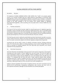 Real Estate Investor Resume Financial Prospectus Template Virtren Com