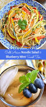 cold asian noodle salad blueberry mint sweet tea