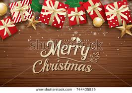 brown christmas poster merry christmas poster background design template stock vector