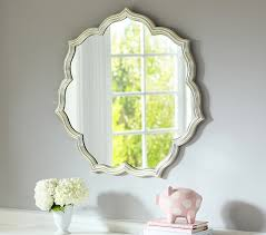 Floor Mirror Pottery Barn Silver Leaf Petal Mirror Pottery Barn Kids