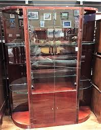lacquered wood glass display cabinet calgary furniture exchange