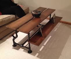 handmade iron pipe u0026 cherry wood coffee table by custom