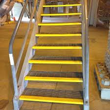 Non Slip Nosing Stairs by Duragrip Grp Nosings Coarse Grit Tapered Gritted Non Slip Step