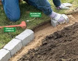 raised bed rock borders brick garden edging b rock gardens