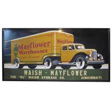 vintage art deco truck advertising sign at 1stdibs